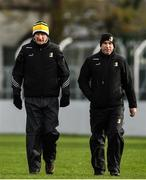 2 February 2020; Kilkenny manager Brian Cody, left, and selector DJ Carey during the Allianz Hurling League Division 1 Group B Round 2 match between Carlow and Kilkenny at Netwatch Cullen Park in Carlow. Photo by David Fitzgerald/Sportsfile