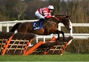 2 February 2020; Jason The Militant, with Rachael Blackmore up, during the Chanelle Pharma Novice Hurdle on Day Two of the Dublin Racing Festival at Leopardstown Racecourse in Dublin. Photo by Harry Murphy/Sportsfile