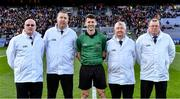 18 January 2020; Referee Seán Stack with his umpires before the AIB GAA Hurling All-Ireland Junior Club Championship Final between Russell Rovers and Conahy Shamrocks at Croke Park in Dublin. Photo by Piaras Ó Mídheach/Sportsfile
