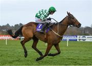 2 February 2020; Tornado Flyer, with Danny Mullins up, during the Flogas Novice Steeplechase on Day Two of the Dublin Racing Festival at Leopardstown Racecourse in Dublin. Photo by Harry Murphy/Sportsfile