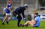 2 February 2020; Mark Schutte of Dublin is attended to after receiving an injury during the Allianz Hurling League Division 1 Group B Round 2 match between Dublin and Laois at Parnell Park in Dublin. Photo by Brendan Moran/Sportsfile