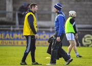 2 February 2020; Laois manager Eddie Brennan, right, with selector Niall Corcoran prior to the Allianz Hurling League Division 1 Group B Round 2 match between Dublin and Laois at Parnell Park in Dublin. Photo by Brendan Moran/Sportsfile