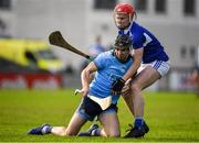 2 February 2020; Danny Sutcliffe of Dublin in action against Liam Senior of Laois during the Allianz Hurling League Division 1 Group B Round 2 match between Dublin and Laois at Parnell Park in Dublin. Photo by Brendan Moran/Sportsfile