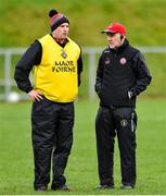 2 February 2020; Tyrone manager Mickey Harte, right, and assistant manager Gavin Devlin before the Allianz Football League Division 1 Round 2 match between Monaghan and Tyrone at St. Mary's Park in ?Castleblayney, Monaghan. Photo by Oliver McVeigh/Sportsfile