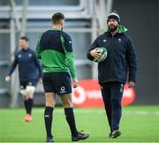 4 February 2020; Head coach Andy Farrell, right, in conversation with Ross Byrne during Ireland Rugby squad training at the IRFU High Performance Centre at the Sport Ireland Campus in Dublin. Photo by Ramsey Cardy/Sportsfile