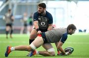 4 February 2020; Iain Henderson, right, and Tom O'Toole during Ireland Rugby squad training at the IRFU High Performance Centre at the Sport Ireland Campus in Dublin. Photo by Ramsey Cardy/Sportsfile