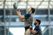4 February 2020; Iain Henderson, left, and Tom O'Toole during Ireland Rugby squad training at the IRFU High Performance Centre at the Sport Ireland Campus in Dublin. Photo by Ramsey Cardy/Sportsfile