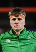 31 January 2020; Brian Deeny of Ireland prior to the U20 Six Nations Rugby Championship match between Ireland and Scotland at Irish Independent Park in Cork. Photo by Harry Murphy/Sportsfile