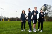 5 February 2020; In attendance, from left, are Leinster rugby players Daisy Earle, Rob Kearney, Ciarán Frawley and Judy Bobbett at the 2020 Bank of Ireland Leinster Rugby School of Excellence launch in Kings Hospital, over 11,590 kids have taken part in the camp over the past 22 years and 600 places already sold for this summer. Photo by David Fitzgerald/Sportsfile