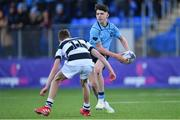 3 February 2020; Andrew Cosgrave of St Michael's College in action against Liam Cody of Belvedere College during the Bank of Ireland Leinster Schools Junior Cup First Round match between St Michael's College and Belvedere College at Energia Park in Donnybrook, Dublin. Photo by Piaras Ó Mídheach/Sportsfile
