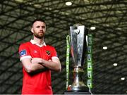 5 February 2020; Shelbourne's Ciaran Kilduff at the launch of the 2020 SSE Airtricity League season at the Sport Ireland National Indoor Arena in Dublin. Photo by Harry Murphy/Sportsfile