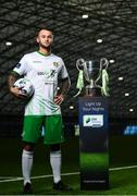 5 February 2020; Cabinteely's Daniel Blackbyrne at the launch of the 2020 SSE Airtricity League season at the Sport Ireland National Indoor Arena in Dublin. Photo by Harry Murphy/Sportsfile