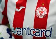 5 February 2020; A detailed view the Sligo Rovers crest and jersey during the launch of the 2020 SSE Airtricity League season at the Sport Ireland National Indoor Arena in Dublin. Photo by Stephen McCarthy/Sportsfile
