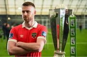 5 February 2020; Ciaran Kilduff of Shelbourne during the launch of the 2020 SSE Airtricity League season at the Sport Ireland National Indoor Arena in Dublin. Photo by Stephen McCarthy/Sportsfile