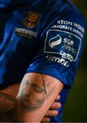 5 February 2020; A detailed view of a tatoo on the arm of Robbie McCourt of Waterford United during the launch of the 2020 SSE Airtricity League season at the Sport Ireland National Indoor Arena in Dublin. Photo by Stephen McCarthy/Sportsfile