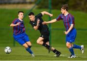 5 February 2020; Kevin Kelly of Cabra in action against Cian Walsh of Irishtown during the FAI-ETB Bobby Smith Cup Final match between FAI-ETB Cabra and FAI-ETB Irishtown at FAI National Training Centre at the Sport Ireland Campus in Dublin. Photo by Eóin Noonan/Sportsfile