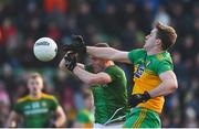 2 February 2020; Hugh McFadden of Donegal in action against Bryan Menton of Meath during the Allianz Football League Division 1 Round 2 match between Meath and Donegal at Páirc Tailteann in Navan, Meath. Photo by Daire Brennan/Sportsfile
