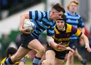 6 February 2020; Emmet O Bradaigh of Castleknock College in action against CBS Wexford during the Bank of Ireland Leinster Schools Junior Cup First Round match between CBS Wexford and Castleknock College at Greystones RFC in Wicklow. Photo by Matt Browne/Sportsfile