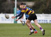 6 February 2020; Paidi Doyle of CBS Wexford during the Bank of Ireland Leinster Schools Junior Cup First Round match between CBS Wexford and Castleknock College at Greystones RFC in Wicklow. Photo by Matt Browne/Sportsfile