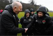 7 February 2020; FAI President Gerry McAnaney with Jess Lawton, UEFA B Licence participant, during a UEFA Female-only B Licence Coaching Course at Fota Island Resort, Cork. Photo by Matt Browne/Sportsfile
