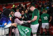 7 February 2020; Sean O'Brien of Ireland signs autographs following the U20 Six Nations Rugby Championship match between Ireland and Wales at Irish Independent Park in Cork. Photo by Harry Murphy/Sportsfile