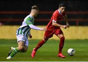 7 February 2020; Jaze Kabia of Shelbourne and Dean O'Shea of Bray Wanderers during the pre-season friendly match between Shelbourne and Bray Wanderers at Tolka Park in Dublin. Photo by Ben McShane/Sportsfile