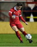 7 February 2020; Luke Byrne of Shelbourne during the pre-season friendly match between Shelbourne and Bray Wanderers at Tolka Park in Dublin. Photo by Ben McShane/Sportsfile