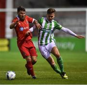 7 February 2020; Gary Deegan of Shelbourne in action against Joe Doyle of Bray Wanderers during the pre-season friendly match between Shelbourne and Bray Wanderers at Tolka Park in Dublin. Photo by Ben McShane/Sportsfile