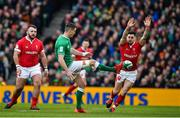 8 February 2020; Jonathan Sexton of Ireland kicks over the Wales defence during the Guinness Six Nations Rugby Championship match between Ireland and Wales at Aviva Stadium in Dublin. Photo by Brendan Moran/Sportsfile