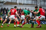 8 February 2020; Jonathan Sexton of Ireland is tackled by Tomos Williams of Wales during the Guinness Six Nations Rugby Championship match between Ireland and Wales at Aviva Stadium in Dublin. Photo by David Fitzgerald/Sportsfile