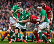 8 February 2020; Conor Murray of Ireland is tackled by Alun Wyn Jones of Wales during the Guinness Six Nations Rugby Championship match between Ireland and Wales at Aviva Stadium in Dublin. Photo by Brendan Moran/Sportsfile