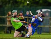 8 February 2020; Tim O'Mahony of Mary Immaculate College Limerick in action against Sean Downey of IT Carlow during the Fitzgibbon Cup Semi-Final match between Mary Immaculate College Limerick and IT Carlow at Dublin City University Sportsgrounds. Photo by Sam Barnes/Sportsfile