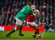 8 February 2020; Johnny McNicholl of Wales is tackled by Tadhg Furlong of Ireland during the Guinness Six Nations Rugby Championship match between Ireland and Wales at Aviva Stadium in Dublin. Photo by Brendan Moran/Sportsfile