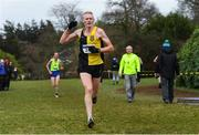 8 February 2020; Brian Maher of Kilkenny City Harriers celebrates winning the Masters Men Cross Country during the Irish Life Health National Intermediate, Master, Juvenile B & Relays Cross Country at Avondale in Rathdrum, Co Wicklow. Photo by Matt Browne/Sportsfile
