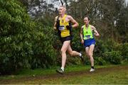 8 February 2020; Brian Maher of Kilkenny City Harriers, left, on his way to winning the Masters Men Cross Country ahead of eventual second place finisher Peter Arthur of Liffey Valley AC, Dublin, during the Irish Life Health National Intermediate, Master, Juvenile B & Relays Cross Country at Avondale in Rathdrum, Co Wicklow. Photo by Matt Browne/Sportsfile