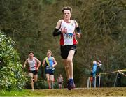 8 February 2020; Paul Delahunty of Greystones and Districy AC, Wicklow, on his way to winning the Boys under-17 Cross Country during the Irish Life Health National Intermediate, Master, Juvenile B & Relays Cross Country at Avondale in Rathdrum, Co Wicklow. Photo by Matt Browne/Sportsfile