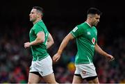 8 February 2020; John Cooney of Ireland replaces team-mate Conor Murray during the Guinness Six Nations Rugby Championship match between Ireland and Wales at Aviva Stadium in Dublin. Photo by Brendan Moran/Sportsfile
