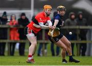 8 February 2020; Darragh Fitzgibbon of UCC in action against James Bergin of DCU Dóchas Éireann during the Fitzgibbon Cup Semi-Final match between DCU Dóchas Éireann and UCC at Dublin City University Sportsgrounds. Photo by Sam Barnes/Sportsfile