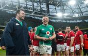 8 February 2020; Andrew Conway, right, and Cian Healy of Ireland following the Guinness Six Nations Rugby Championship match between Ireland and Wales at Aviva Stadium in Dublin. Photo by David Fitzgerald/Sportsfile