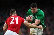 8 February 2020; James Ryan of Ireland is tackled by Gareth Davies of Wales during the Guinness Six Nations Rugby Championship match between Ireland and Wales at the Aviva Stadium in Dublin. Photo by Ramsey Cardy/Sportsfile