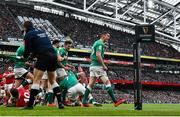8 February 2020; Jonathan Sexton of Ireland celebrates a penalty during the Guinness Six Nations Rugby Championship match between Ireland and Wales at the Aviva Stadium in Dublin. Photo by Ramsey Cardy/Sportsfile