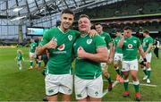 8 February 2020; Conor Murray, left, and Dave Kilcoyne of Ireland after the Guinness Six Nations Rugby Championship match between Ireland and Wales at Aviva Stadium in Dublin. Photo by Brendan Moran/Sportsfile