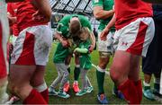 8 February 2020; Keith Earls of Ireland with his daughters Ella May and Laurie after the Guinness Six Nations Rugby Championship match between Ireland and Wales at Aviva Stadium in Dublin. Photo by Brendan Moran/Sportsfile