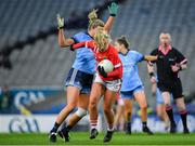 8 February 2020; Saoirse Noonan of Cork in action against Jennifer Dunne of Dublin during the Lidl Ladies National Football League Division 1 Round 3 match between Dublin and Cork at Croke Park in Dublin. Photo by Seb Daly/Sportsfile