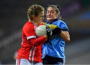 8 February 2020; Libby Coppinger of Cork in action against Éabha Rutledge of Dublin during the Lidl Ladies National Football League Division 1 Round 3 match between Dublin and Cork at Croke Park in Dublin. Photo by Seb Daly/Sportsfile