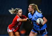 8 February 2020; Carla Rowe of Dublin in action against Laura O'Mahony of Cork during the Lidl Ladies National Football League Division 1 Round 3 match between Dublin and Cork at Croke Park in Dublin. Photo by Ray McManus/Sportsfile