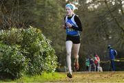 8 February 2020; Leah Toher of Claremorris AC, Mayo, on her way to winning the Girls under-17 Cross Country during the Irish Life Health National Intermediate, Master, Juvenile B & Relays Cross Country at Avondale in Rathdrum, Co Wicklow. Photo by Matt Browne/Sportsfile
