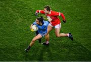 8 February 2020; Éabha Rutledge of Dublin and Libby Coppinger of Cork during the Lidl Ladies National Football League Division 1 Round 3 match between Dublin and Cork at Croke Park in Dublin. Photo by Stephen McCarthy/Sportsfile