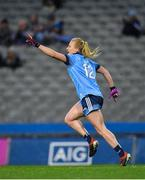 8 February 2020; Carla Rowe of Dublin celebrates after scoring her side's first goal during the Lidl Ladies National Football League Division 1 Round 3 match between Dublin and Cork at Croke Park in Dublin. Photo by Seb Daly/Sportsfile