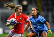 8 February 2020; Róisín Phelan of Cork in action against Hannah O'Neill of Dublin during the Lidl Ladies National Football League Division 1 Round 3 match between Dublin and Cork at Croke Park in Dublin. Photo by Seb Daly/Sportsfile